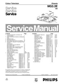 Manual de serviço Philips MG3.2E AA
