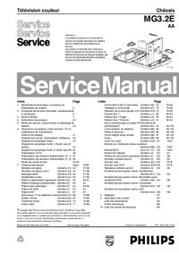 manuel de réparation Philips MG3.2E AA