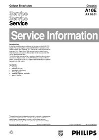 Manuale di servizio Supplemento Philips A10E AA 02.01