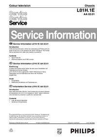 Manuale di servizio Supplemento Philips L01H.1E AA 02.01