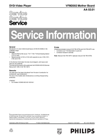 Service Manual Supplement Philips VFM2002 Mother Board AA 02.01