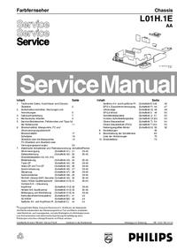 Manual de serviço Philips L01H.1E AA