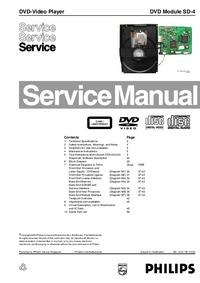 Manual de serviço Philips DVD Module SD-4