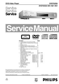 Servicehandboek Philips DVD763SA