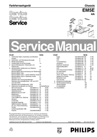 Manual de servicio Philips EM5E