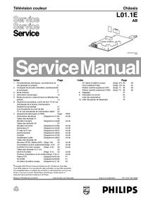 Manuale di servizio Philips L01.1E AB