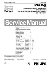 Manual de servicio Philips EM5E-DVD AA