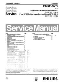 manuel de réparation Philips EM5E-DVD AA