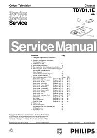 Manuale di servizio Philips TDVD1.1E AA