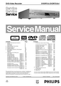 Manual de servicio Philips DVDR70