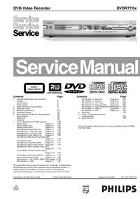 Manual de serviço Philips DVDR77
