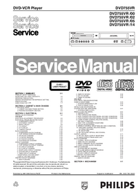Manual de servicio Philips DVD755VR /00