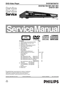 Manual de servicio Philips DVD731