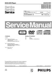 Manual de servicio Philips DVD757VR /05