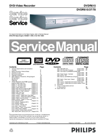 Manual de servicio Philips DVDR615