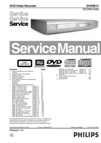 Service Manual Philips DVDR615/69