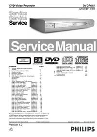Manuale di servizio Philips DVDR615/69