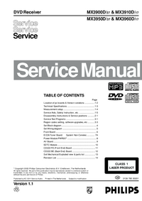 Service Manual Philips MX3900D/ 37