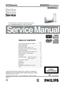 Manual de servicio Philips MX5900SA/ 37