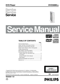 Manual de servicio Philips DVD590M/ 69