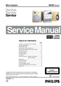 Manual de servicio Philips MCM7/ 37