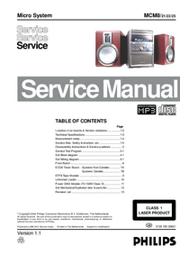 Manual de servicio Philips MCM8/ 21