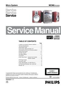 Instrukcja serwisowa Philips MCM8/ 25