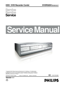 Manual de servicio Philips DVDR520H/ 00