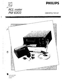 Bedienungsanleitung Philips PM 6303
