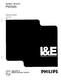 Manuale d'uso Philips PM2525
