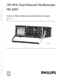 User Manual Philips PM 3267