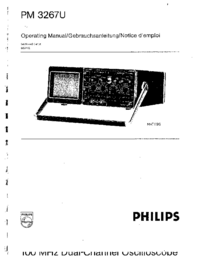 User Manual Philips PM 3267U