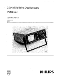 User Manual Philips PM3340