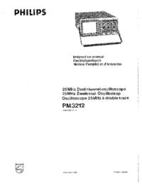 Manuel de l'utilisateur Philips PM3212