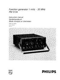 Service Manual Philips PM 5134