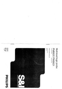 Service and User Manual Philips PM8821