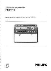 User Manual Philips PM2519