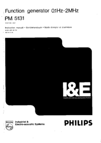 Service and User Manual Philips PM 5131