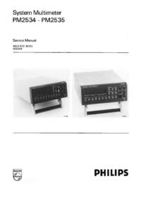 Servicehandboek Philips PM2534
