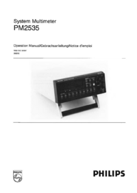 Manual del usuario Philips PM2535