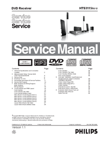 Manual de servicio Philips HTS3115
