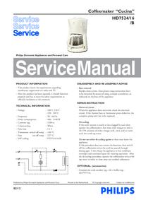 Manual de serviço Philips Cucina HD7524/16/B