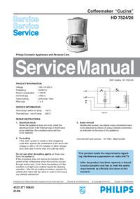 manuel de réparation Philips Cucinan HD 7524/26