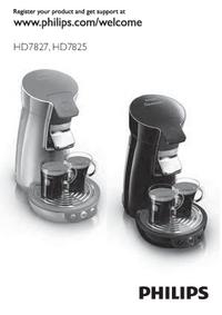 Instrukcja obsługi Philips Senseo HD 7825