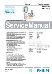 Manual de servicio Philips Cucina HR7723/00
