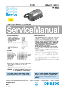 Service Manual Philips Vision HR 8890