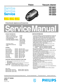 Manual de servicio Philips Vision HR 8907