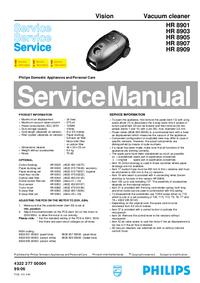 Manual de serviço Philips Vision HR 8907