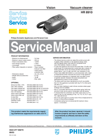 Manual de servicio Philips Vision HR 8910