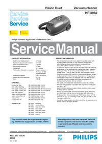 Manual de servicio Philips Vision Duet HR 8982